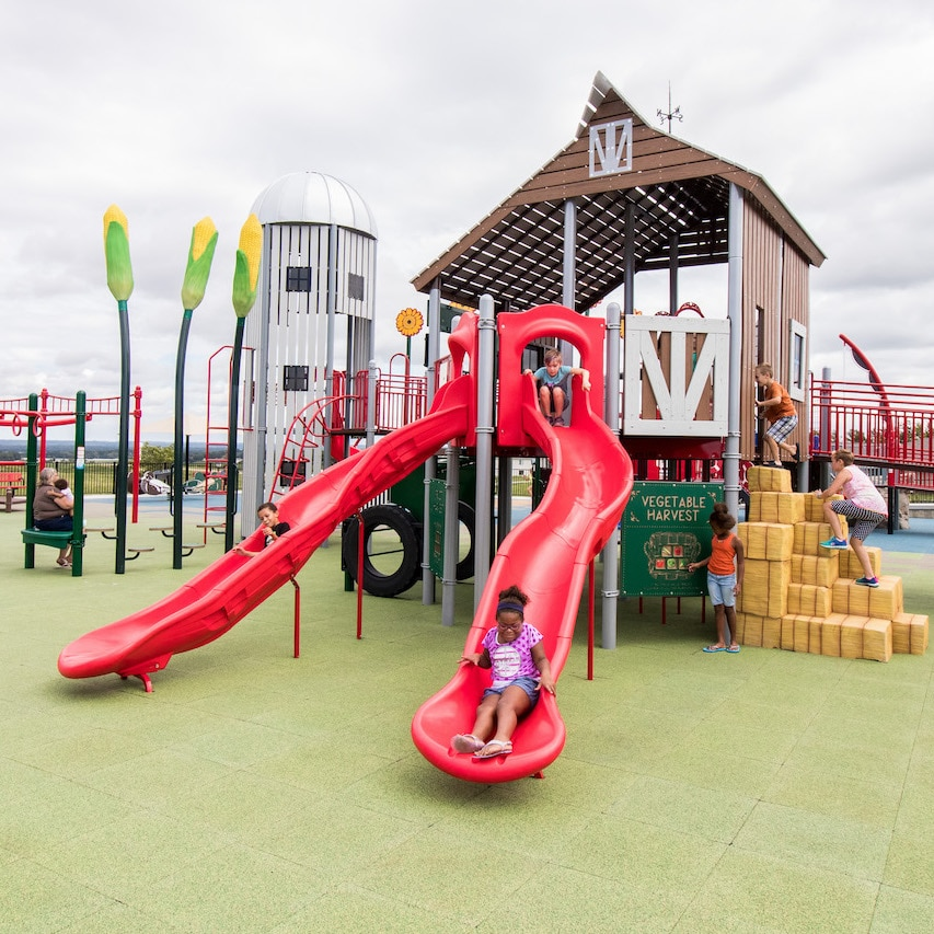 Commercial playground slide