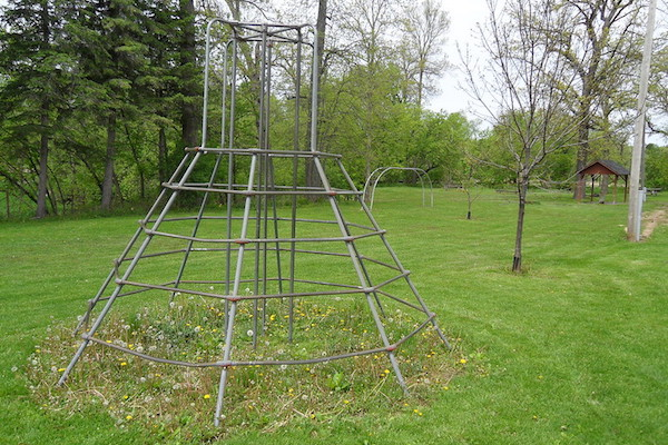 Old metal jungle gym
